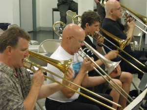 Trombone Section (Photo by Tim Bayer)